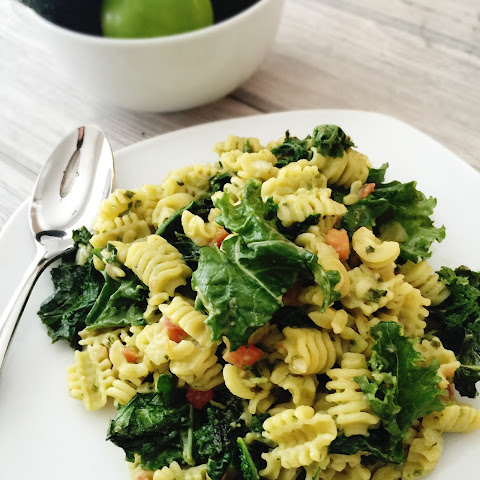 Vegetarian One-Day-A-Week Avocado Pasta