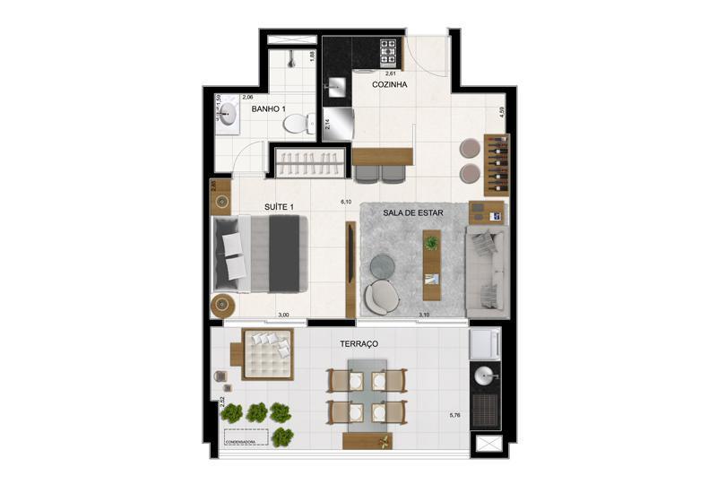 Planta Final  5 - 51 m²