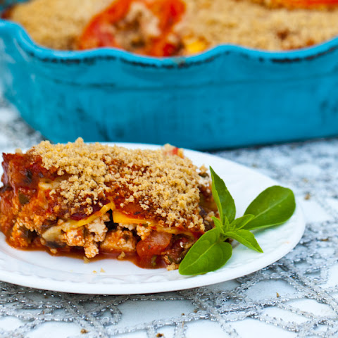 Vegan Zucchini Lasagna With Pesto and Portobello Mushrooms