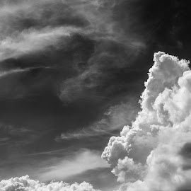 Heaven  by Toni Mares - Landscapes Cloud Formations ( clouds, sky, black and white )