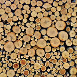 WOOD PILE  by Doug Hilson - Abstract Patterns ( wood )