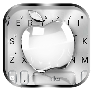 Silver Crystal Apple Keyboard Theme