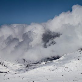 Clouds over Mountains by Kelly Maize - Landscapes Cloud Formations ( mountains, alaska, snow, clouds, landscape,  )
