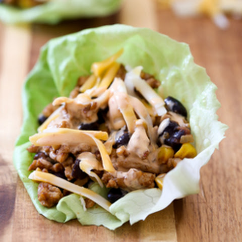 Chicken Taco Lettuce Wraps with Chipotle Sour Cream Sauce