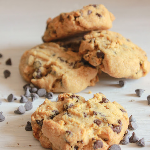 Thick Peanut Butter Chocolate Chip Cookies