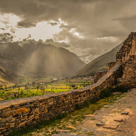 at the Sun Temple by Dmitry Samsonov - Landscapes Travel ( peru, south america, sun temple, inca, light )