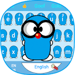 Pure Blue Cute Peanut Baby Theme Animal Keyboard Icon