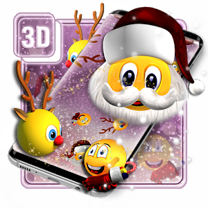 3D Christmus Emoji Theme For PC