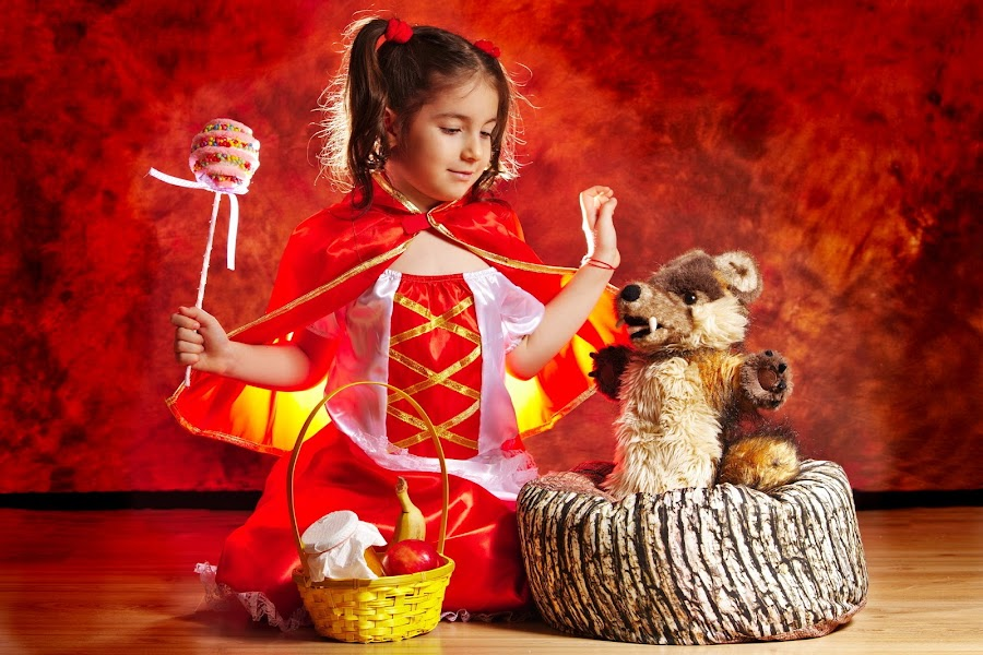 Little Red Riding Hood by Nicu Buculei - Babies & Children Child Portraits ( story, fairy tale, children, kids, little red ridding hood, portrait )