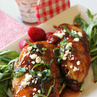 Strawberry Glazed Basil Chicken