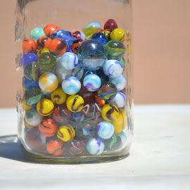 All my marbles! by Heather Walton - Novices Only Objects & Still Life ( colors, jar, marbles, fun, game )