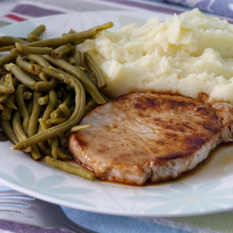 Smoked Pork Chops in Mustard-Wine Sauce