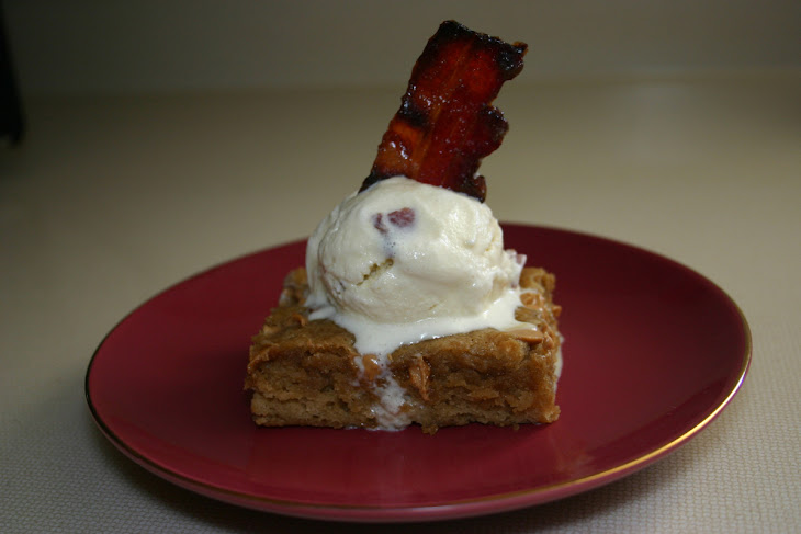 Blondies with Maple Bacon Ice Cream Recipe | Yummly