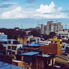 After Rain Sky by Prathmesh Bhurke - Buildings & Architecture Homes ( clouds, structure, blue sky, blue, rain )