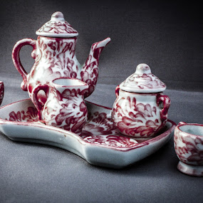 Tea set by Lena DeStefano - Artistic Objects Cups, Plates & Utensils