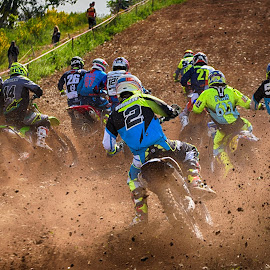 Sust'n Clumps by Marco Bertamé - Sports & Fitness Motorsports ( motocross, start, dust, clumps )