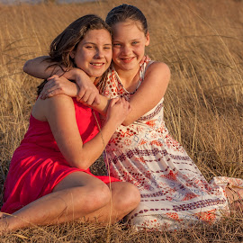 Sisters by Morne Kotze - Babies & Children Child Portraits
