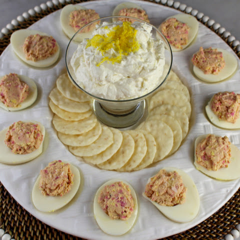Hot Pink Deviled Eggs