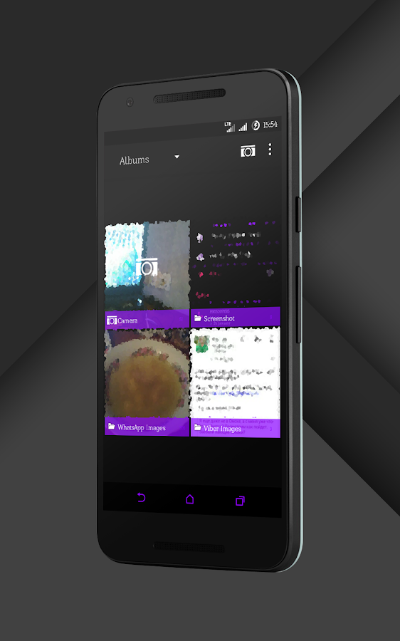 Sense Black/Purple cm13 theme Screenshot 12