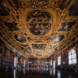 Doges Palace by Ole Steffensen - Buildings & Architecture Other Interior ( venezia, ceiling, venice, doges palace, palazzo ducales, italy, ornaments )