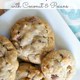 Chocolate Chip Cookies with Coconut and Pecans