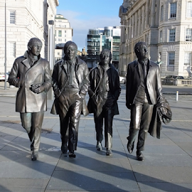 Fab 4 by Dave Turner - Buildings & Architecture Statues & Monuments ( famous, statue, liverpool, beatles, people )