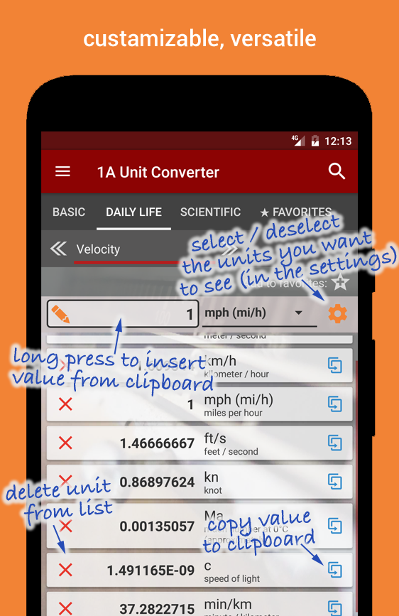 1A Unit Converter pro Screenshot 1