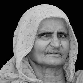 Ramabai by SANGEETA MENA  - Black & White Portraits & People