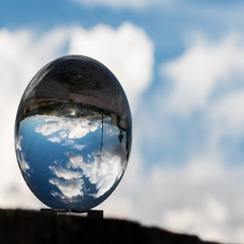 Glass egg view by Tabitha Doughty - Artistic Objects Glass