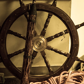The Ship by Steph Doyle - Artistic Objects Other Objects ( wheel, harpoon, moby dick, whale, sailor )