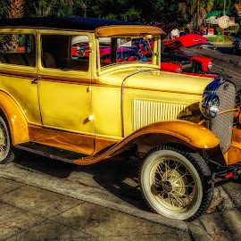 Classic Car 1 by Dave Walters - Transportation Automobiles ( crusin the coast 2017, classic car, lumix fz2500, colors, transportation )