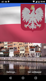 Poland Flag Live Wallpaper 3D - screenshot
