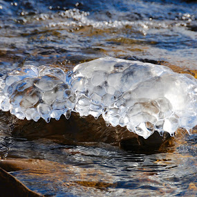 Beautiful Ice! by Sandra Updyke - Nature Up Close Water ( winter, ice, lake superior, ice formations, water droplets )