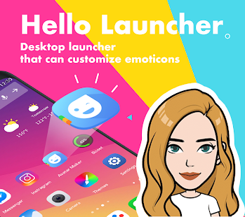 Hello Launcher - Doll Emojis & Themes for pc