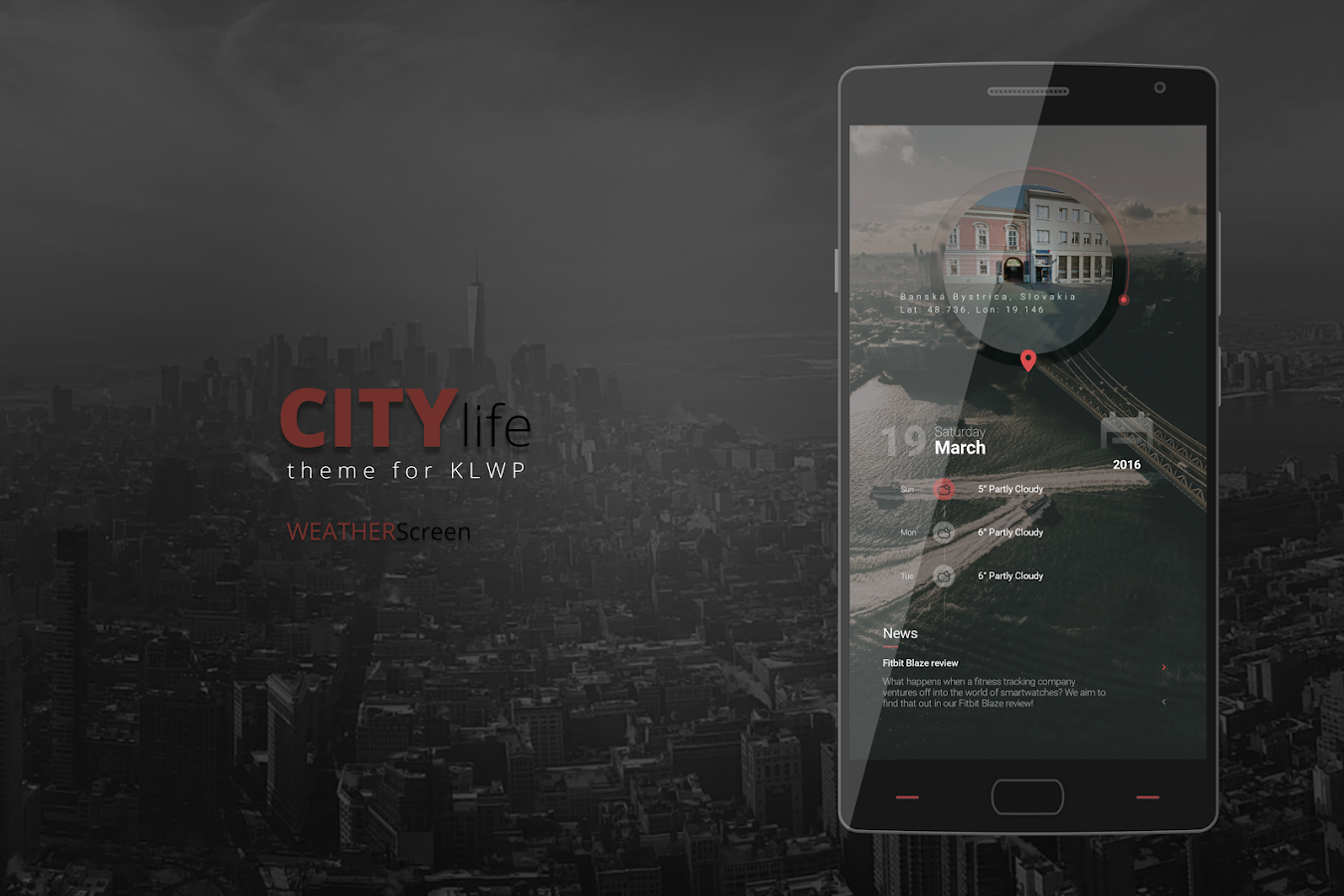City Life Theme for KLWP Screenshot 1