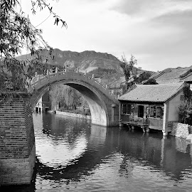 pont chinois by Nathalie Coget - Black & White Landscapes