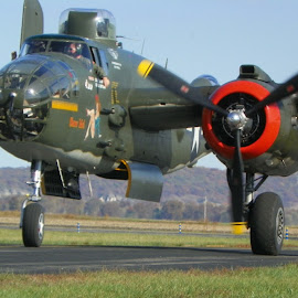 The Show Me by Sandy Stevens Krassinger - Transportation Airplanes ( red, propeller, bombers, green, war planes, b-25 )