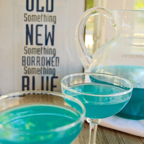 Something Blue Tardis Martini