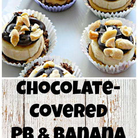 Chocolate-Covered Peanut Butter & Banana Tarts