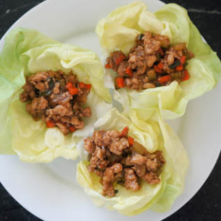 Chicken and Veggie Lettuce Cups
