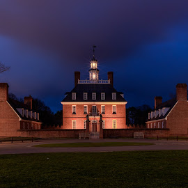 Williamsburg Govern's Mansion by Robert Sellers - Landscapes Travel ( structure, park, gonvernor, williamsburg, travel, historic, photography, nightscape, colonial, scene, long exposure, night, virginia, historical, government, scenery, travel photography,  )