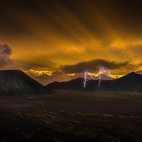 lighting  by Jun Hao - Landscapes Mountains & Hills ( indonesia mount bromo )