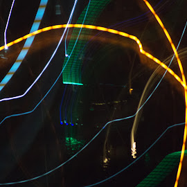 Light Dance by Mary Gerakaris - Abstract Light Painting ( lights, artistic photography, night photography, abstract lines, abstract photography, nightscape )