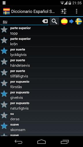 Offline Spanish Swedish Dictionary screenshot 1