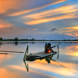 Sunset at Cipondoh Lake. Tangerang. Banten. Indonesia by Boyke Budiman Sumantri - Landscapes Sunsets & Sunrises