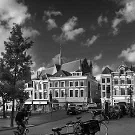 Hooglandse Kerk, Leiden by Edi Jampez - City,  Street & Park  Street Scenes