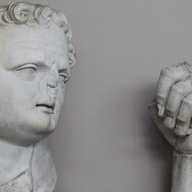 Statue parts of Emperor Domitian, Ephesus, Turkey by Rhetta Sweeney - Artistic Objects Other Objects ( ephesus, patmos, roman emperor, turkey, banished john )