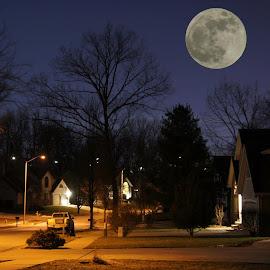 by Bruce Sidener - City,  Street & Park  Neighborhoods
