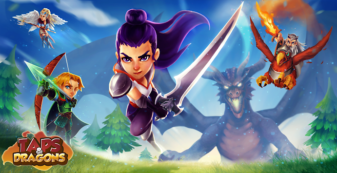 Taps & Dragons - Idle Heroes APK screenshot thumbnail 1