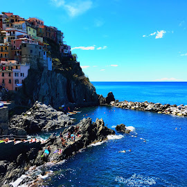 Manarola by Magdalena Dedić - Instagram & Mobile iPhone ( adriatic, beautiful, sea, manarola, italy )